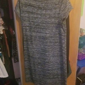 Plain old Gray T-shirt Warm Dress